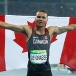 De Grasse wins 200-metre silver