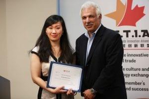 cctia-presented-certificate-of-appreciate-to-ontario-minitry-of-agricult