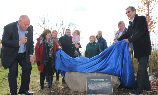 Bob Hunter Memorial Park officially opens