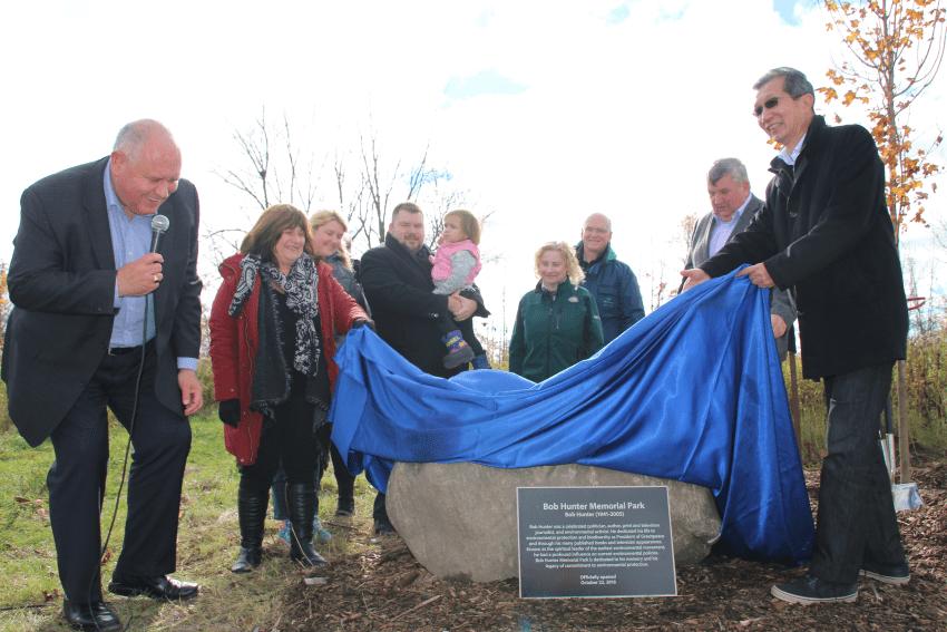 Bob Hunter Memorial Park officially opens