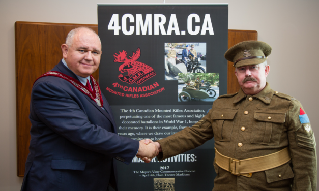 Vimy 'Trench' Dinner to Honour Canada's service