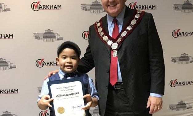 Eight-year-old recognized by mayor