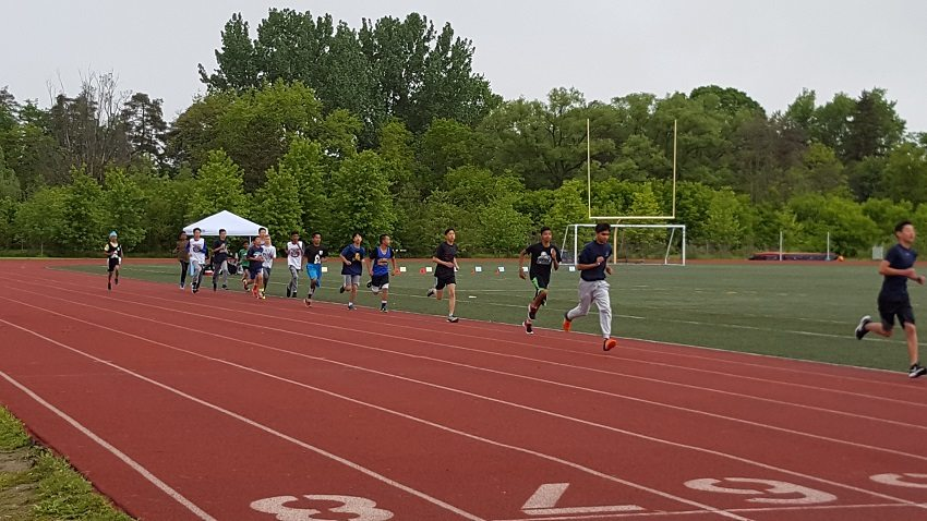 Markham areas track and field wet, but fun