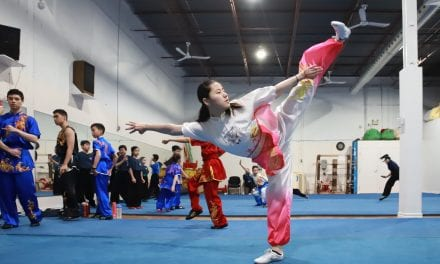 Wushu athletes compete at Pan Am Centre