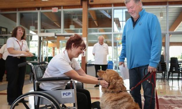 Therapy dog program promotes good mental health