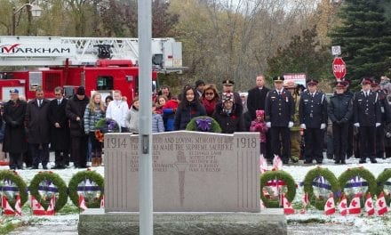 Markham remembers: 100 years since First World War ended