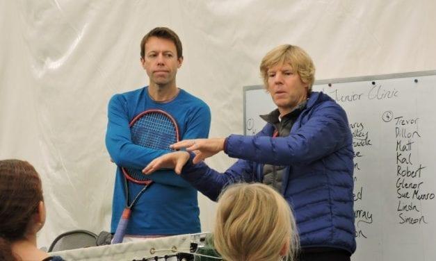 Hall of Famer shares tennis tips