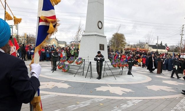 Remembrance Day arrives crisp and cold
