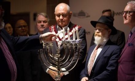Honouring Pittsburgh victims at Menorah lighting