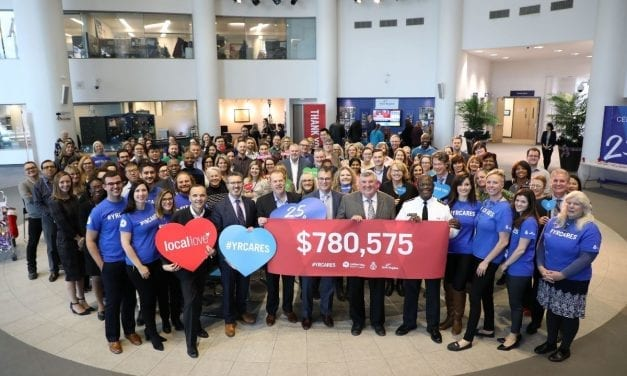 Region and YRP celebrate 25 years of caring at employee fundraising campaign closing ceremonies
