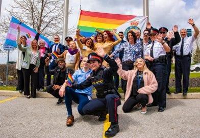 Pride flag rises at police headquarters