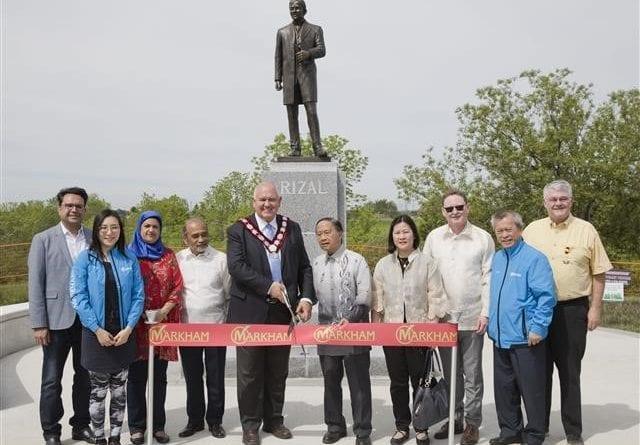 Markham unveils Dr. José Rizal Monument