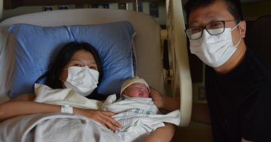 Mom delivers baby boy just outside MSH