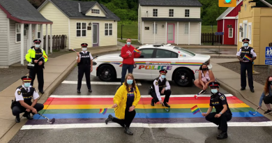 Police unveil rainbow crosswalk at Safety Village